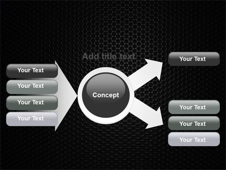 Black Grid PowerPoint Template Slide 14
