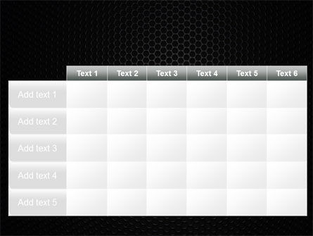 Black Grid PowerPoint Template Slide 15