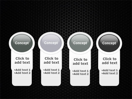 Black Grid PowerPoint Template Slide 5