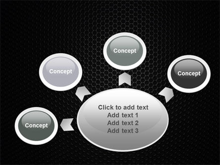 Black Grid PowerPoint Template Slide 7