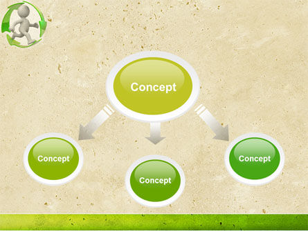Recycling Circle PowerPoint Template, Slide 4, 04362, Business Concepts — PoweredTemplate.com