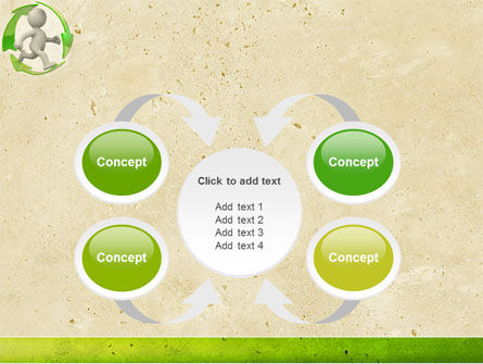 Recycling Circle PowerPoint Template Slide 6