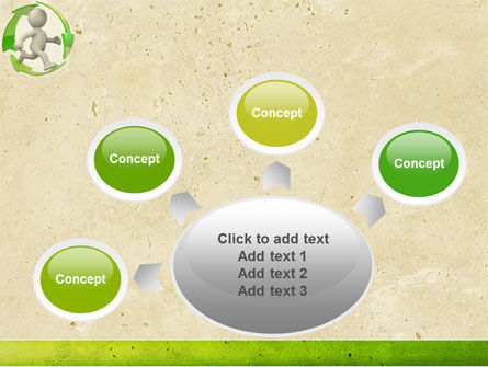 Recycling Circle PowerPoint Template Slide 7