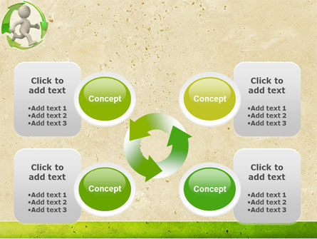 Recycling Circle PowerPoint Template Slide 9