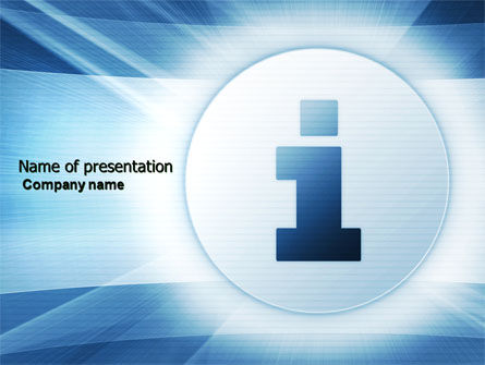 Careers/Industry: Information Icon PowerPoint Template #04363