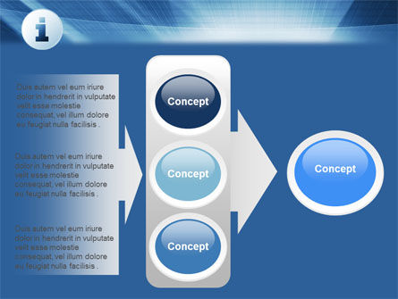 Information Icon PowerPoint Template Slide 11