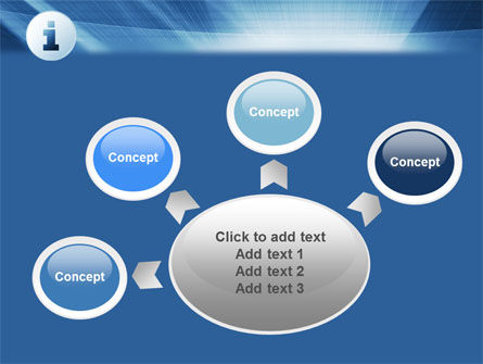 Information Icon PowerPoint Template Slide 7