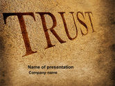 Financial/Accounting: Trust PowerPoint Template #04364