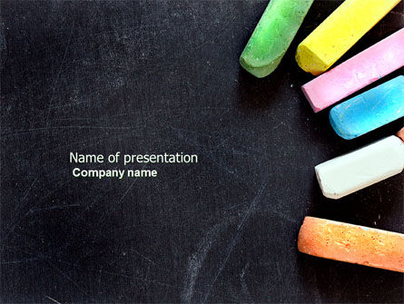 Education & Training: Chalk PowerPoint Template #04365