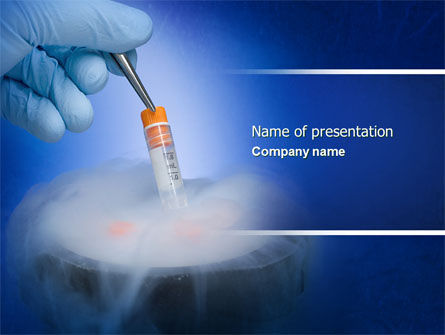 Cryopreservation PowerPoint Template, 04367, Medical — PoweredTemplate.com