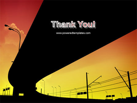Sunset Overpass On A Highway PowerPoint Template Slide 20