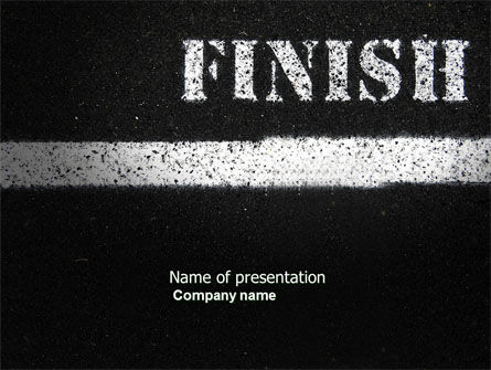Business Concepts: Finish Line PowerPoint Template #04369