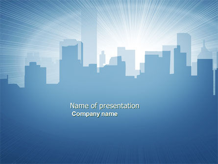 City Scenery PowerPoint Template, 04370, Business — PoweredTemplate.com
