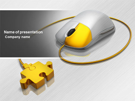 Computer Mouse Connection PowerPoint Template, 04372, Computers — PoweredTemplate.com