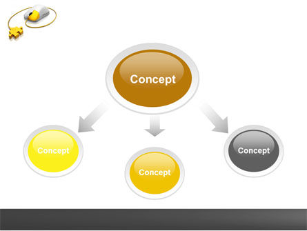 Computer Mouse Connection PowerPoint Template, Slide 4, 04372, Computers — PoweredTemplate.com