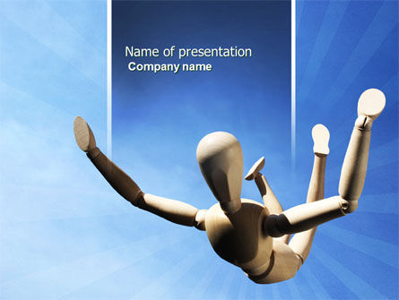 Falling PowerPoint Template, 04374, Business Concepts — PoweredTemplate.com
