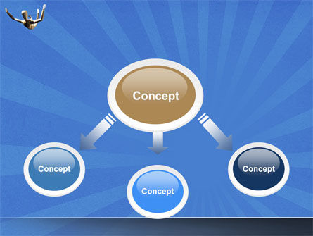Falling PowerPoint Template, Slide 4, 04374, Business Concepts — PoweredTemplate.com