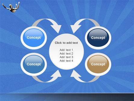Falling PowerPoint Template Slide 6