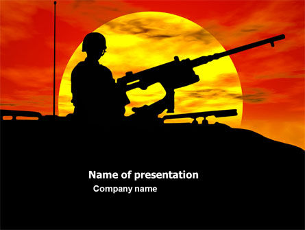Military Actions PowerPoint Template, 04377, Military — PoweredTemplate.com