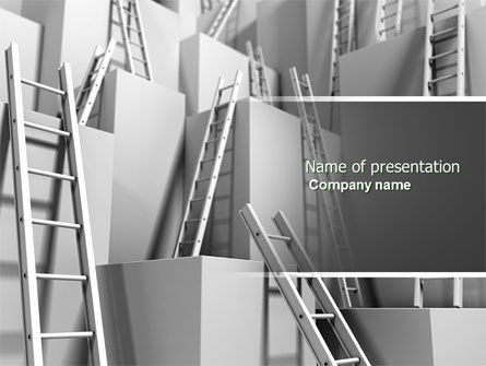 Ladders PowerPoint Template, 04379, Consulting — PoweredTemplate.com