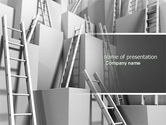 Consulting: Ladders PowerPoint Template #04379