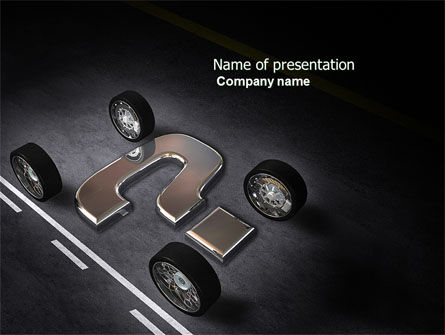 Careers/Industry: New Automobile Inventions PowerPoint Template #04382