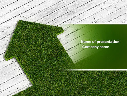 Careers/Industry: Green Lawn PowerPoint Template #04385