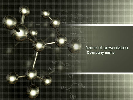 Chemical Composition PowerPoint Template, 04386, Education & Training — PoweredTemplate.com