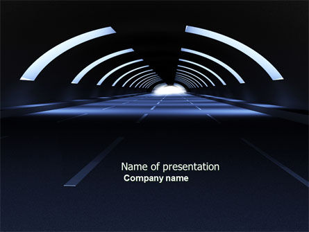 Dark Tunnel PowerPoint Template