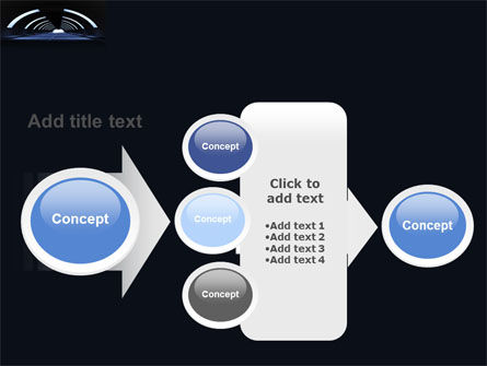 Dark Tunnel PowerPoint Template Slide 17