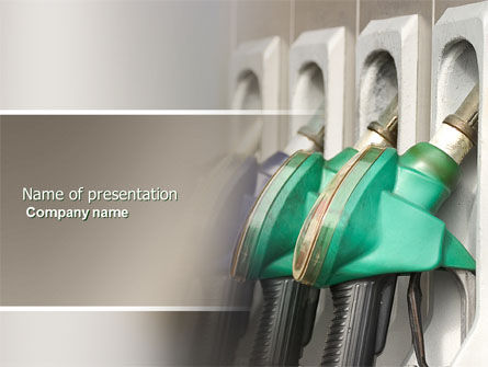 Gasoline PowerPoint Template, 04391, Careers/Industry — PoweredTemplate.com