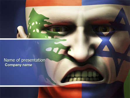 Arab-Israeli Hate PowerPoint Template, 04392, Military — PoweredTemplate.com
