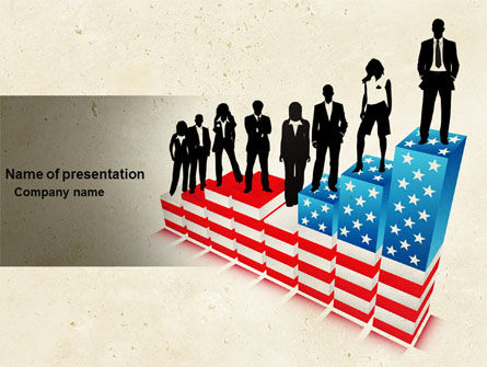 America: Social Hierarchy PowerPoint Template #04393