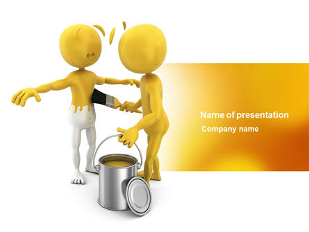 Business Concepts: Repainting Man PowerPoint Template #04394