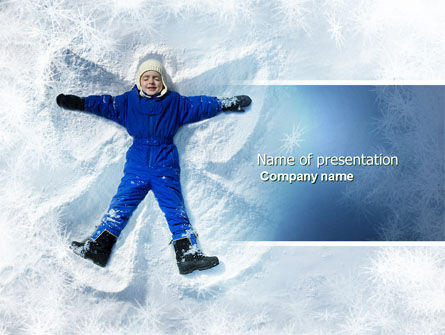 Holiday/Special Occasion: Snow Play PowerPoint Template #04399