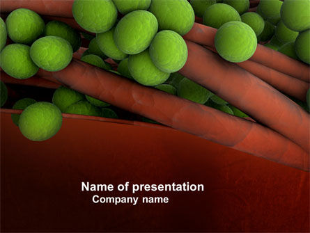Medical: Staphylococcus PowerPoint Template #04401