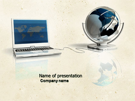 Connect to World PowerPoint Template, 04403, Computers — PoweredTemplate.com