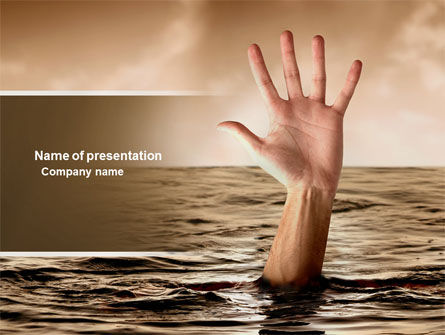 Drowning PowerPoint Template, 04407, Consulting — PoweredTemplate.com