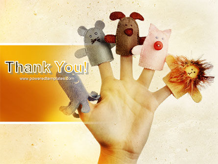 Finger Puppet PowerPoint Template Slide 20