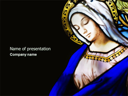 Virgin Mary PowerPoint Template, 04411, Art & Entertainment — PoweredTemplate.com