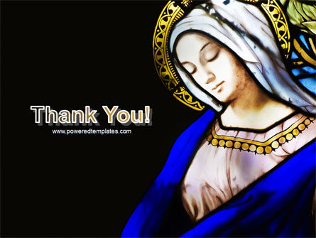 Virgin Mary PowerPoint Template Slide 20