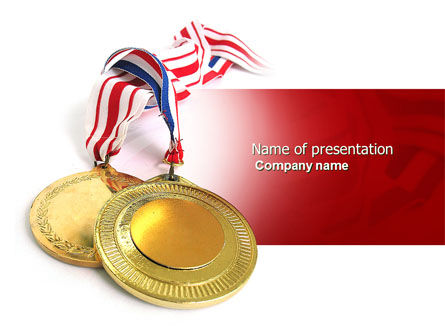 Sports: Medal PowerPoint Template #04414