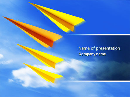 Paper Planes PowerPoint Template, 04415, Cars and Transportation — PoweredTemplate.com
