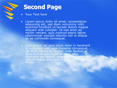 Paper Planes PowerPoint Template, Slide 2, 04415, Cars and Transportation — PoweredTemplate.com