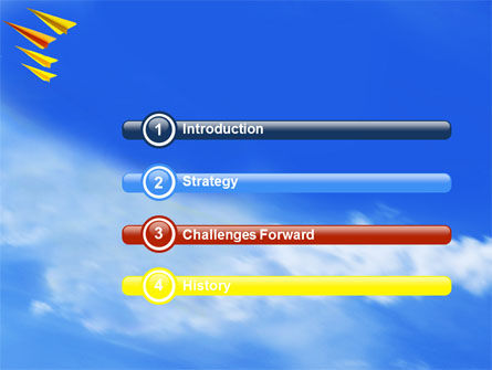 Paper Planes PowerPoint Template Slide 3