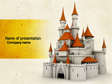 Construction: Castle PowerPoint Template #04419