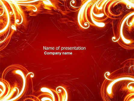 Flame Frame PowerPoint Template