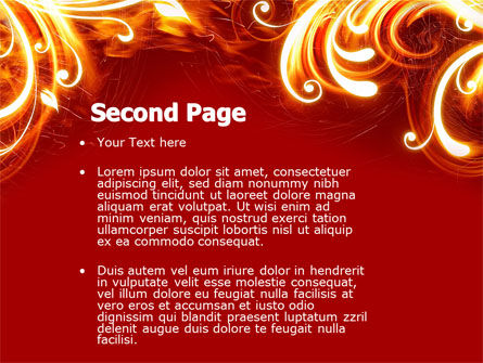 Flame Frame PowerPoint Template Slide 2