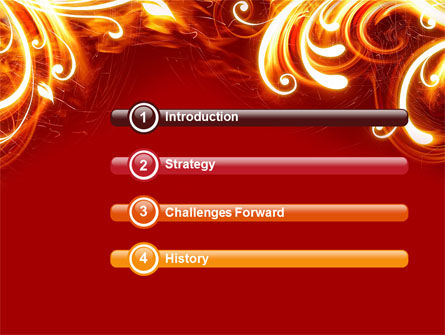Flame Frame PowerPoint Template Slide 3