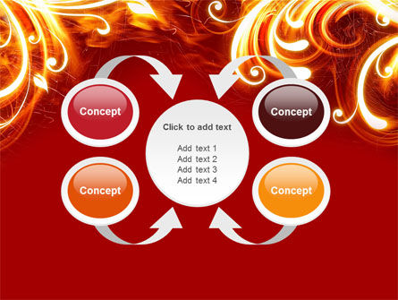 Flame Frame PowerPoint Template Slide 6